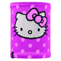 HELLO KITTY CHILD NECKWARMER KNITTED & POLAR FLEECE BUFF® HELLODOTS/ RASPBERRY