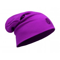 MERINO WOOL THERMAL HAT SLOUCHY BUFF® SOLID PINK CERISSE