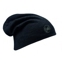 MERINO WOOL THERMAL HAT BUFF® SOLID BLACK