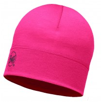 MERINO WOOL 1 LAYER HAT BUFF® SOLID PINK HIBISCUS