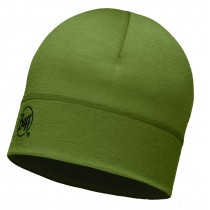 MERINO WOOL 1 LAYER HAT BUFF® SOLID LIGHT MILITARY