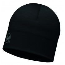 MERINO WOOL 1 LAYER HAT BUFF® SOLID BLACK