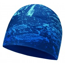 MICROFIBER REVERSIBLE HAT BUFF® MOUNTAIN BITS BLUE - BLUE