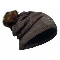 KNITTED & POLAR HAT BUFF® STELLA BROWN CHIC