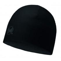 MERINO WOOL REVERSIBLE HAT BUFF® SOLID BLACK