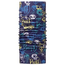 JUNIOR HIGH UV BUFF® FUNNY SKULLS DARK NAVY