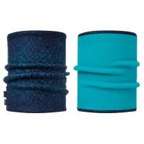 BUFF® Polar Reversible Neckwarmer Erwachsene Schlauchschal  Ivana Blue Capri