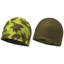 BUFF® Microfiber Reversible Hat Erwachsene Mütze Block Camo Green