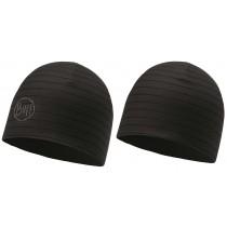 BUFF® Microfiber Reversible Hat Erwachsene Mütze Black Stripes Chic