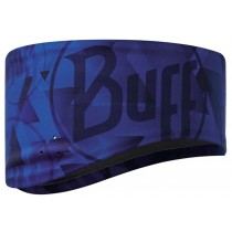 BUFF® Windproof Headband Erwachsene Stirnband Logo Blue S/M
