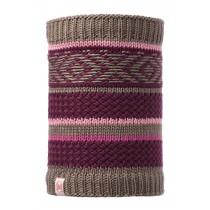 BUFF® Knitted & Polar Fleece Neckwarmer Junior Schlauchschal Tipsy  Purple