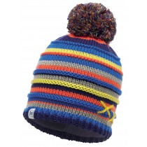 BUFF® Knitted & Polar Hat Kinder Mütze Lasse Blue