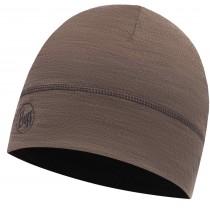 BUFF® LIGHTWEIGHT MERINO WOOL 1 LAYER HAT, Solid Walnut Brown, Erwachsene, Mütze
