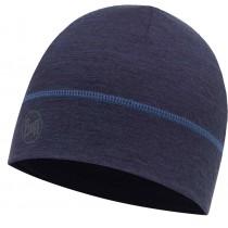 BUFF® LIGHTWEIGHT MERINO WOOL 1 LAYER HAT, Solid Denim, Erwachsene, Mütze