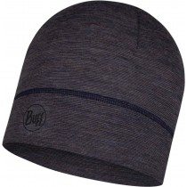 BUFF® Lightweight Merino Wool Hat Erwachsene Mütze Charcoal Grey Multi Stripes