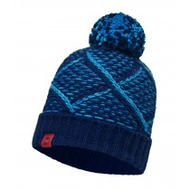 KNITTED HAT BUFF® PLAID MEDIEVAL BLUE