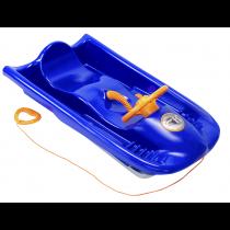 KHW Snow Flyer Schlitten Kunststoff Lenkschlitten Kinderschlitten Rodel blau Bob