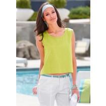 Basic Top Shirt T-Shirt für Damen, gelbgrün, von chillytime, Größe 32/34