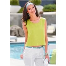 Basic Top Shirt T-Shirt für Damen, gelbgrün, von chillytime, Größe 40/42