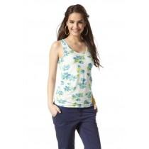Top Shirt T-Shirt für Damen, Hawai-Blumen, von AJC, Größe 36