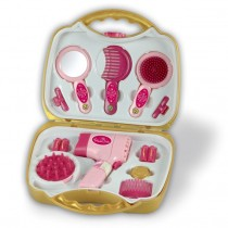 Theo Klein 5293 Princess Coralie Frisierkoffer mit elektrischem Fön Puppen Spielzeug