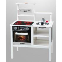 Theo Klein 9458 Spielzeugküche, Miele, Holz (MDF), weiß, Kinderküche Spielküche